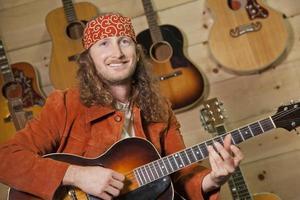 suonare il chitarrista foto