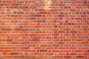 muro di mattoni rossi texture di sfondo foto