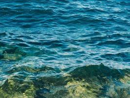 primo piano delle onde dell'oceano