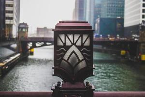 foto del primo piano della lampada del ponte