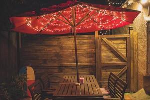 patio in stile cabana