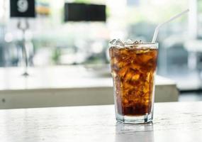 soda ghiacciata sul tavolo