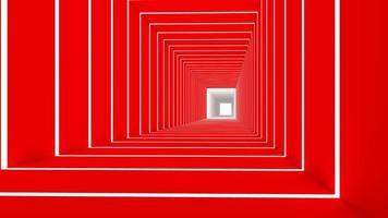 3d rendono del rettangolo rosso foto