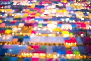 Bokeh colorato mercato all'aperto