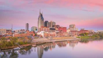Skyline del centro di Nashville, Tennessee
