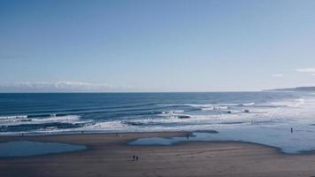 vista panoramica della spiaggia foto