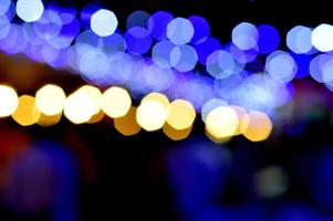 bokeh fotografia di notte