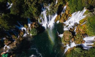 vista a volo d'uccello delle cascate