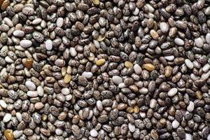 primo piano dei semi di chia