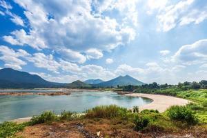 vista della riva del fiume del fiume mae khong, Tailandia