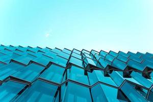 fotografia di architettura di edifici in vetro foto