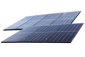 pannello solare fotovoltaico isolato foto