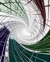 struttura in metallo bianco e verde foto