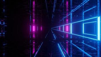 tunnel del mondo cibernetico che emette luce foto
