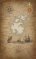 vecchia mappa pirata foto