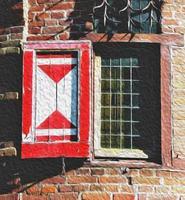illustrazione della finestra del castello foto