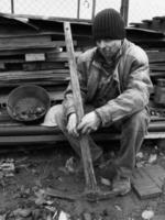 minatore a riposo foto