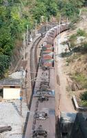 treno merci del minerale di ferro foto