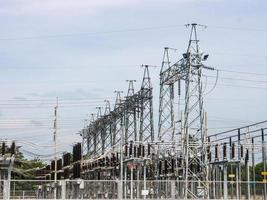 sottostazione elettrica. foto