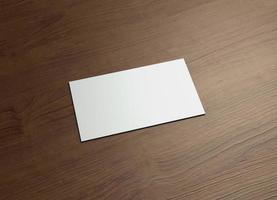 biglietto da visita orizzontale sinistro in legno foto