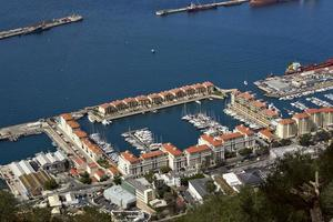 Gibilterra. vista degli yacht foto