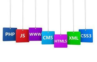 webdesign concetto di internet foto