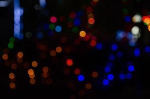 sfondo astratto cerchi colorati bokeh. foto