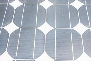 sfondo di pannelli solari usati foto