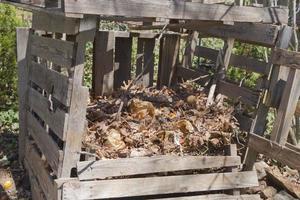 bidone del compost fatto in casa foto