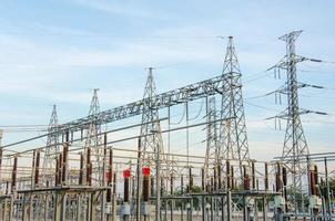centrale elettrica per la produzione di elettricità foto