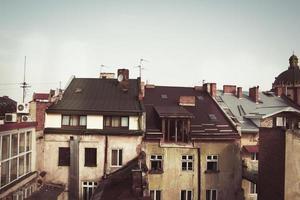 vista dal tetto delle case foto