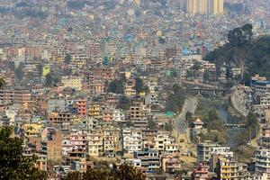 vista di kathmandu da swayambhunath foto