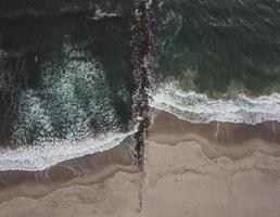 fotografia aerea del corpo idrico foto