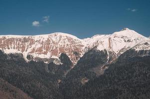 montagne di krasnaya polyana foto