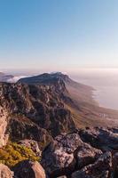 vista della montagna in sud africa foto