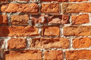 trama del vecchio muro di mattoni rossi