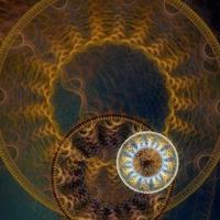 sfondo astratto steampunk ruota dentata foto