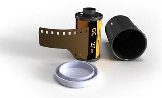 contenitore di pellicola per telecamera analogica foto