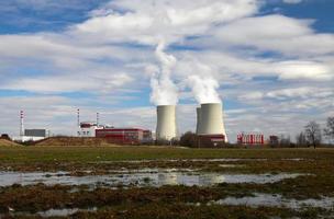 centrale nucleare di temelin nella repubblica ceca europa foto