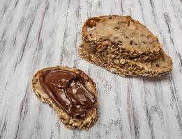 panino con crema al cioccolato foto