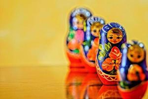 stile bambola matrioska russa foto