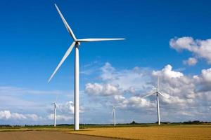 mulino a vento su un campo foto