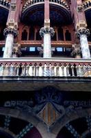 palacio de la musica, modernismo, barcellona foto