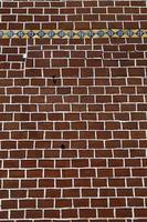 muro di mattoni pila - muro di mattoni rossi decorato, parete strutturata