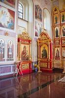 interno del tempio ortodosso, città suzdal, russia foto