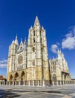 cattedrale di leon, spagna foto