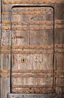 porta di legno del grunge foto