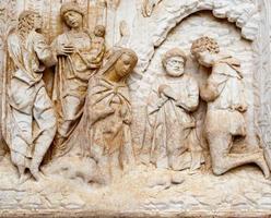 rilievo in marmo biblico foto