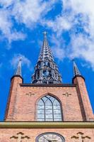 vista frontale della chiesa di riddarholmen foto