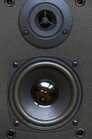 primo piano dell'altoparlante audio nel vecchio stile foto